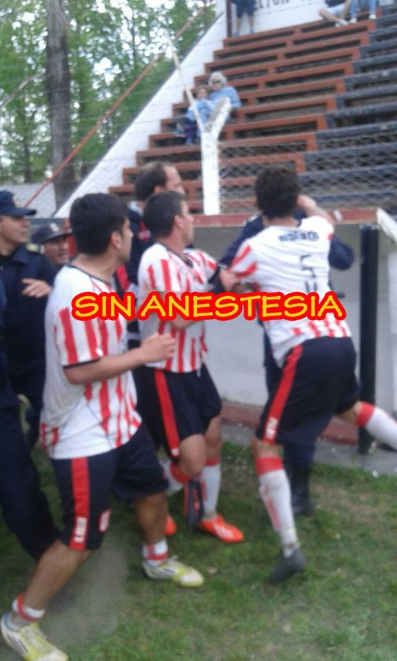 incidentes sports salto social obrero agresion a policia