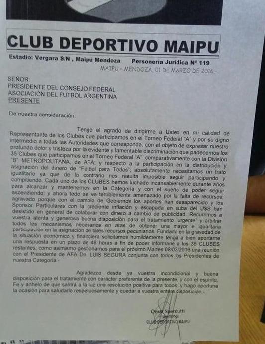 carta maipu